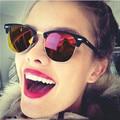 Plaza Unisex Para Hombre gafas de Sol Mujeres Primera Marca de Lujo Gafas de Sol Para Hombre Mujer Ladies Sunglass Vintage Medio Marco Negro
