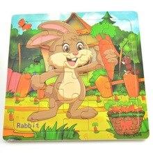 """Деревянная мозаика, анимированная игрушки """"Кролик"""" развивающие, Обучающие Детские обучающие игрушки для детей животные Пазлы"""