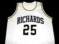 #25 Дуэйн Уэйд Ричардс средняя школа высокого качества Баскетбол Джерси Ретро Возврат Дешевые мужской одежды