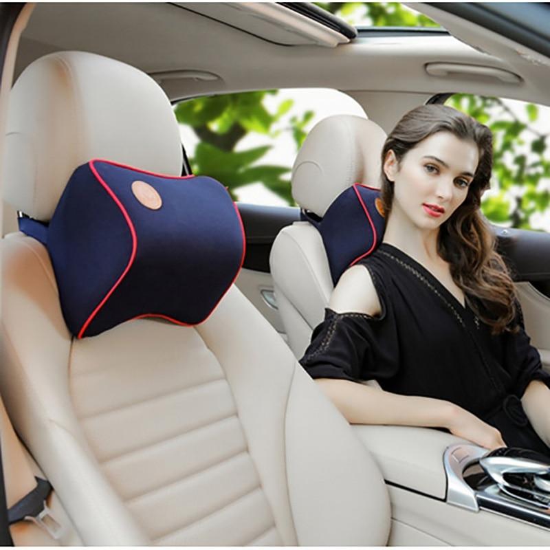 27*22cm Universal Car Seat Headrest Pillow Space Memory Cotton Neck Interior Accessories