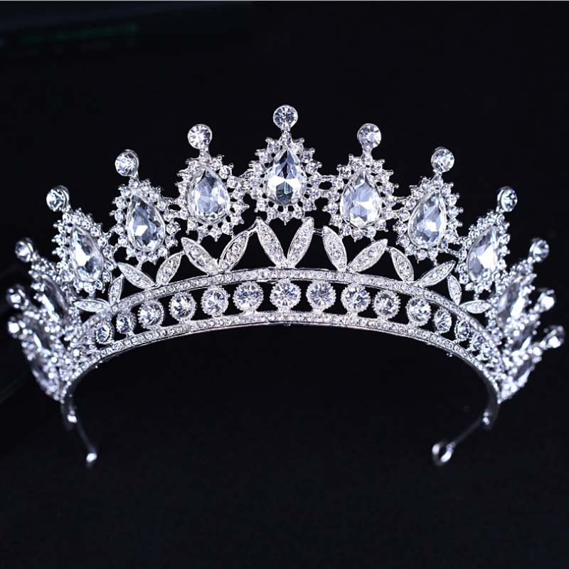 KMVEXO 2018 New Baroque Big Rhinestone Crystal Beaded Headband Tiara Bride Crown Luxury Wedding Korean Hair Ornaments-in Hair Jewelry from Jewelry & Accessories on Aliexpress.com | Alibaba Group