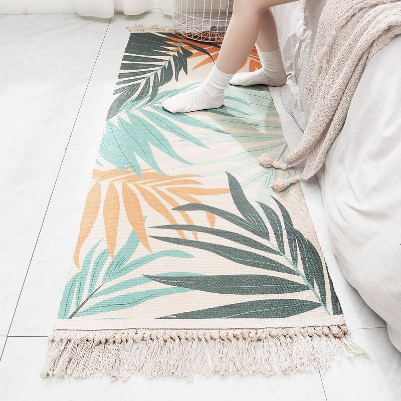 Tapis en coton Multi taille maison frais tapis Style nordique chambre contractée tapis décoratif livraison directe - 5