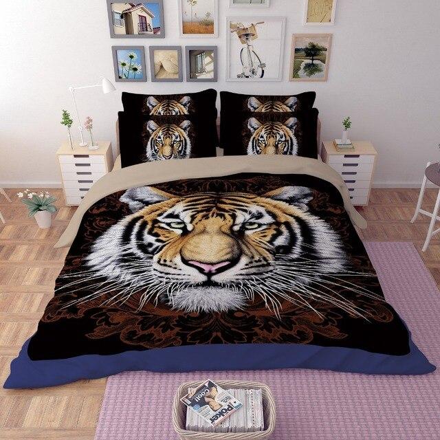 Vente chaude 3D tigre lion cheval loup animal design double reine