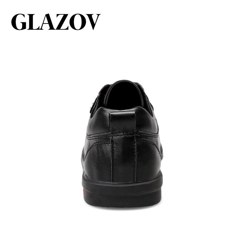 Moda Couro Do Desenhador De Genuíno Toe Apontou Clássicos Sapatos Sapatas Grande Tamanho Formal Negócios brown Vestido Black 46 Dos Glazov Homens xqw8g4YY