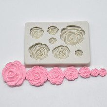 Dropshipping Rose Flower Silicone Mold Fondant Mold Cake Decorating To