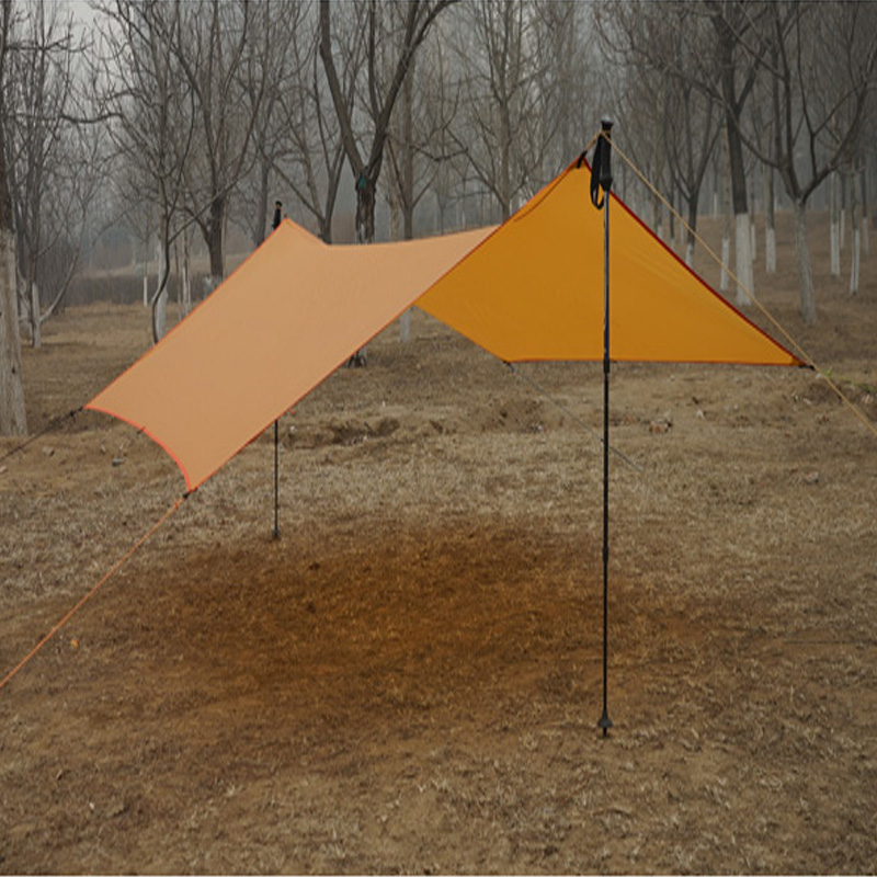 only 450g 20D silicone nylon Rain Fly Tent Tarp Shelter Camping Shelter Rainfly Sun Shelters and Sunshade for Beach Picnic original meanwell led driver apc 16 700 16 8w 9 24v 700ma led power supply constant current mean well apc 16 ip42