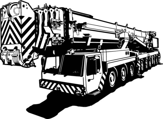 Crane Wall Sticker Hoisting Machine Truck Engines Mural Wall Sticker