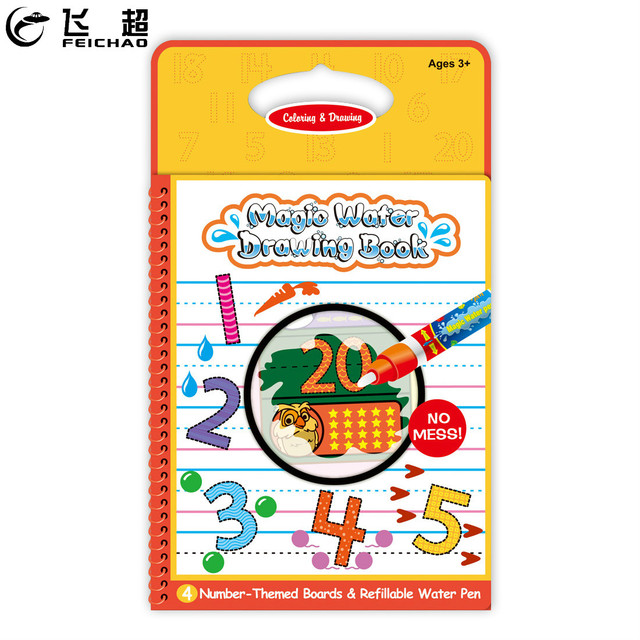 FEICHAO Magic Water Drawing Digital Book Color Books Doodle with ...