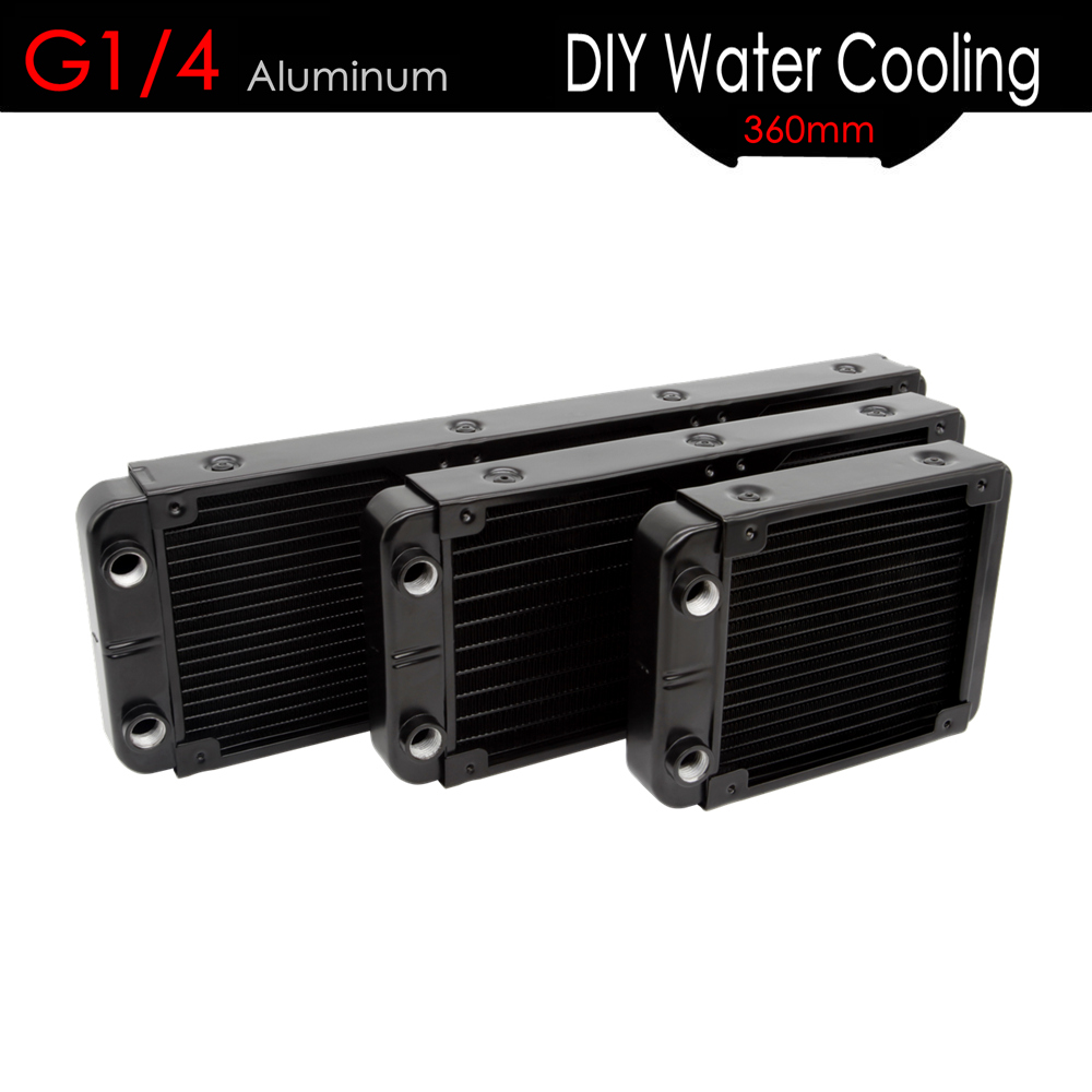 ALSEYE 120/240/360mm Computer Water Radiator G1/4 Alumium Water Cooler Heatsink DIY Water Cooling for CPU/GPU 1u server computer copper radiator cooler cooling heatsink for intel lga 2011 active cooling