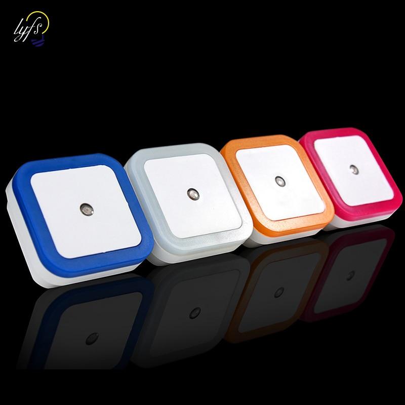 Light Sensor Control Night Light Mini EU US Plug Novelty Square Bedroom Lamp PIR Luces Led Decoracion Lighting