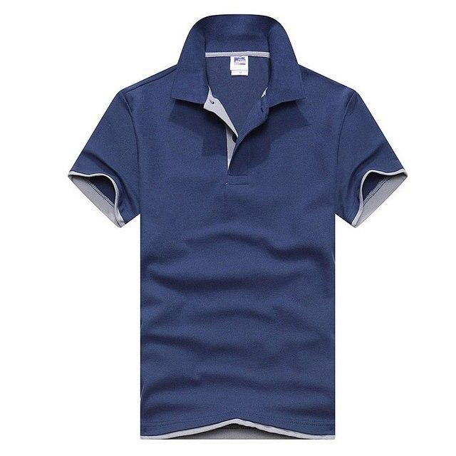 545ae08c85 2018 verão Nova Camisa Polo Dos Homens do Algodão dos homens camisa de  Manga Curta Marcas