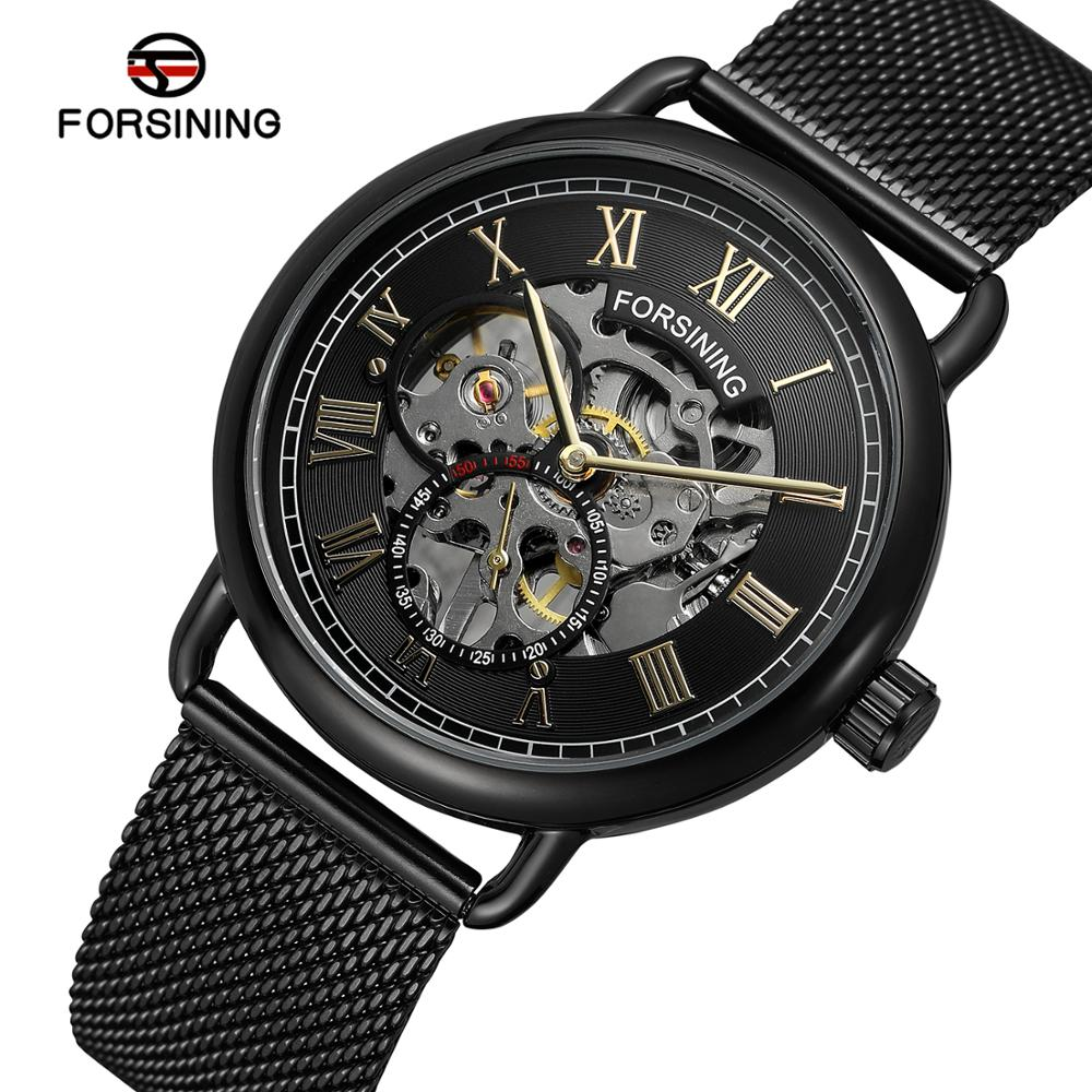 Men Self Winding Mechanical Watch Mens Stainless Steel Skeleton Watches Man Fashion Sport Wristwatch Relogio MasculinoMen Self Winding Mechanical Watch Mens Stainless Steel Skeleton Watches Man Fashion Sport Wristwatch Relogio Masculino