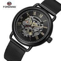 Men Self Winding Mechanical Watch Mens Stainless Steel Skeleton Watches Man Fashion Sport Wristwatch Relogio Masculino