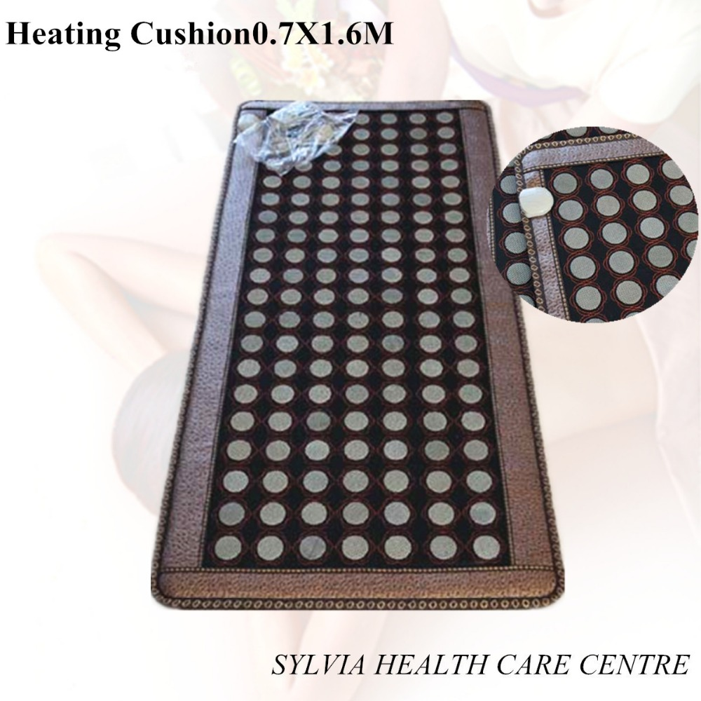 2017 NEW products Natural Tourmaline Mat Jade Health Care Pad Electric Heating Mattress Stone Mattress For Sale 0.7X1.6M