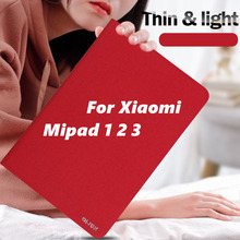 цена на PU Leather Ultra Slim Case For Xiaomi Mipad 1 2 3 Mipad1 Mipad2 Mipad3 Light Weight Hard PC Back Smart Cover for Xiaomi Mi Pad 1