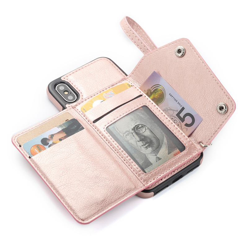 Luxury Leather Wallet Case For apple iphone X 6 s 7 8 Plus Girly Cases For iphone 6S 6plus 7plus 8plus10 Protection Phone Cover
