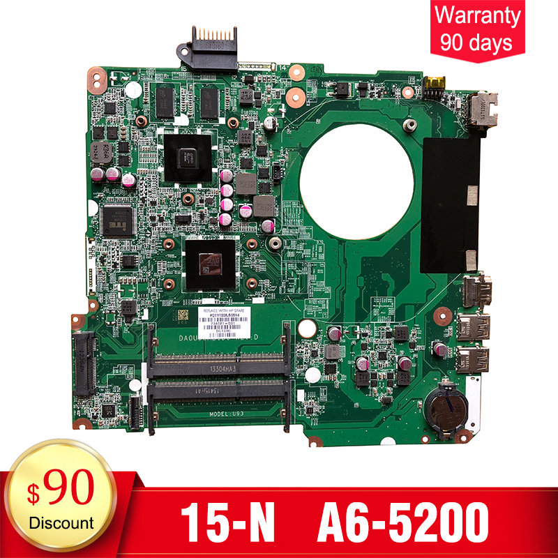 YTAI for HP pavolion 15-N 15z-N laptop motherboard with A6-5200 processor 734821-501 DA0U93MB6D0 mainboard fully tested nokotion for acer aspire 5750 laptop motherboard p5we0 la 6901p mainboard mbrcg02005 mb rcg02 005 mother board