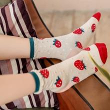 18 New Winter Japanese Strawberries Socks Lovely Girl Socks In Lolita Female Cotton Socks Institute Wind Socks Women Harajuku