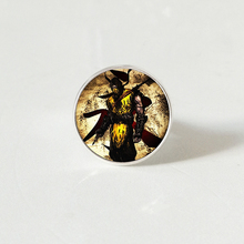 Arrival Mortal Kombat rings Handmade Glass Dome Scorpion Sub Zero Jewelry Steampunk