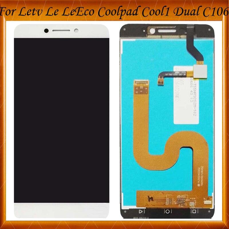 100% de Travail Bien Pour 5.5 ''Letv Le LeEco Coolpad Cool 1 Écran Tactile LCD Assemblée de L'écran D'affichage pour Cool1 Double C106