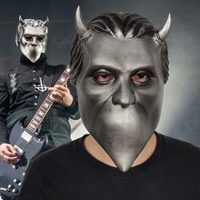 Купить с кэшбэком Ghost Nameless Ghoul Mask Cosplay Ghost B.C Rock Roll Band Latex Helmet Masks Halloween Party Props DropShipping.