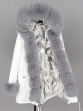 maomaokong 2020  womens winter jackets   Natural fur white cotton jacket winter female fur jacket park