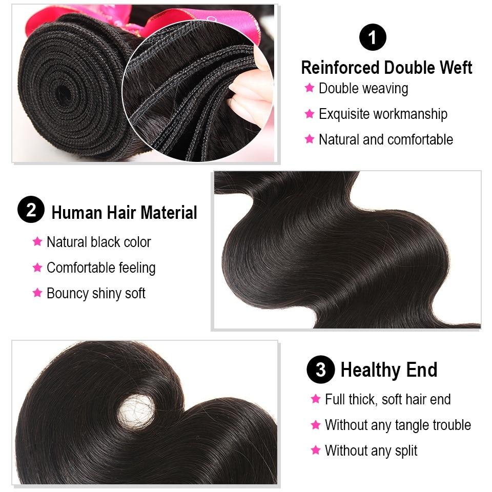 HTB1Rj8tlyMnBKNjSZFzq6A qVXal AliPearl Hair Body Wave Bundles With 5x5 Closure Free Part Brazilian Hair Weave 5x5 Closure With 3 Bundles Remy Natural Black