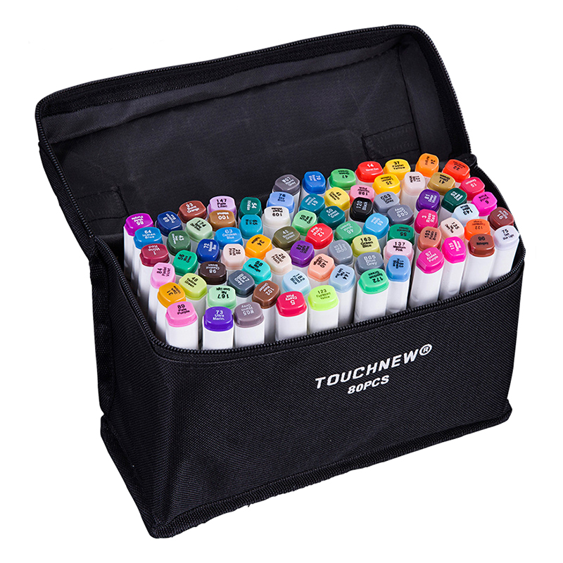 80 Colors Artist Dual Head Sketch Markers For Manga Marker School Drawing Pen Design Supplies 5type touchnew 60 colors artist dual head sketch markers for manga marker school drawing marker pen design supplies 5type