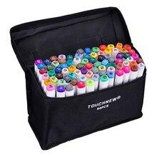 80 Цвета художник Dual Head эскиза Маркеры для Manga маркер школа рисования ручка Дизайн поставки 5 типа