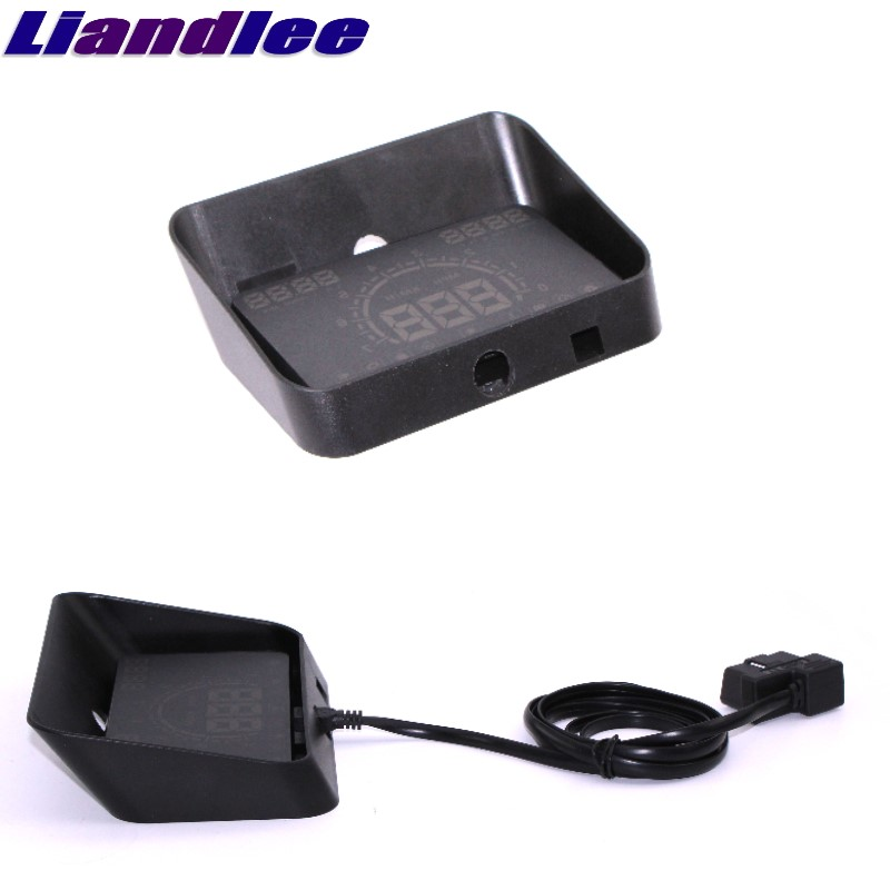 Liandlee For Mercedes Benz Vaneo W414 Vito Viano Sprinter Vario HUD Big Monitor Car Speed Projector Windshield Vehicle Head bigbigroad for mercedes benz r g class vito viano sprinter vaneo r230 w251 car hud head up display windscreen projector obd2