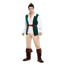 Adult Men Green Peter Pan Costume Halloween Purim Party Carnival Masquerade Cosplay Costumes Outfit