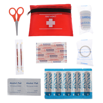 8pcs/set Mini Outdoor First Aid kit Waterproof Small Medical Box Emergency Survival kit Travel Car Home Household image