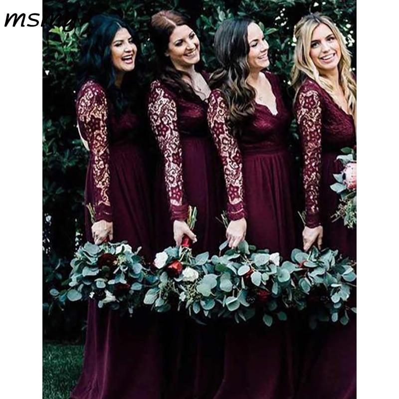 Simple A-Line Chiffion Lace   Bridesmaid     Dresses   Pleat Sleeveless Cheap Long   Bridesmaid     Dresses   Custom Made