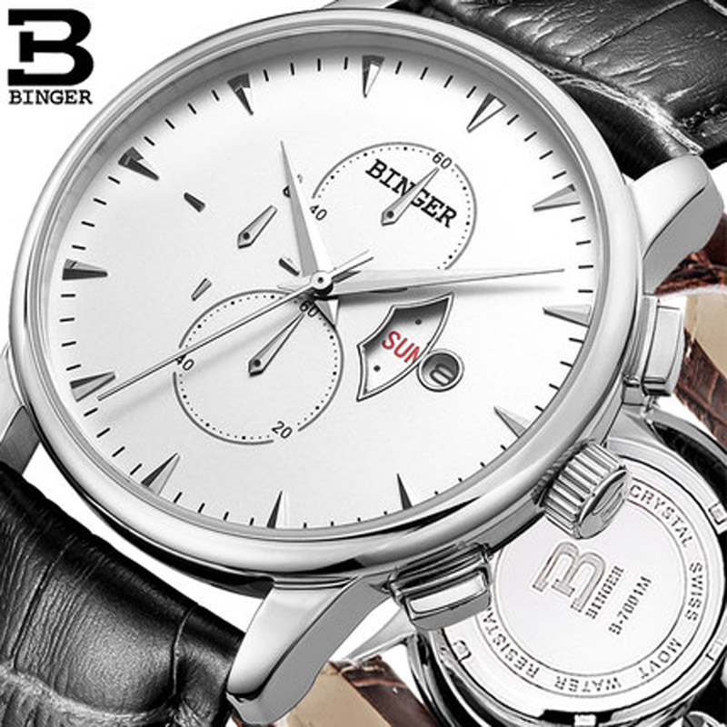 New Fashion BINGER Watch Leather Quartz Movement Watches Dress Men Sports Famous Brand Wristwatches Relogio Feminino B6003M classic simple star women watch men top famous luxury brand quartz watch leather student watches for loves relogio feminino