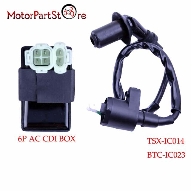 US $10 24 18% OFF|Ignition Coil 6Pin AC CDI Box for Honda XR CRF TRX 50 70  125 250 300cc Engine Motorcycle Dirt Bike ATV Moped Scooter Go Kart @20-in