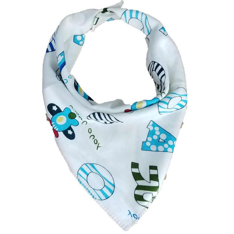 Baberos para bebés, paños para infantes, bufandas para niños, babero, Bandana, impermeables, doble capa de algodón, accesorios de alimentación para bebés