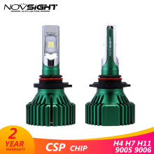 Novsight 16000lm Easy Installation lamp h7 Turbo Led Headlight H4 H11 HB4 9005 HB4 9006 ZES Chips 6500K Auto Fog Lights 12V 24V(China)