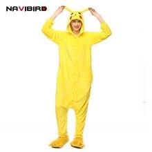 Pokemon Go Pikachu Cosplay Animal Hoodie Sleepwear Pajamas Adult Yellow Unisex Pikachu Onesie Cosplay Costume Pikachu Pajamas