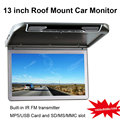 13 inch Roof Mount Car Monitor with Built-in IR & FM Transmitter