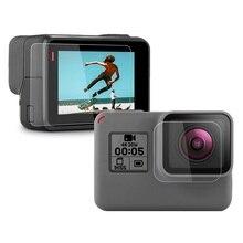Закаленное Стекло объектив + ЖК-дисплей Экран протектор для экшн-камеры GoPro Hero 7 6 5 Hero7 Hero6 Hero5 Черная защитная пленка для камеры для спортивной экшн-камеры Go Pro