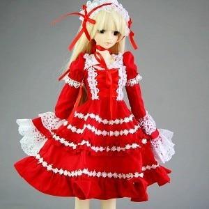 [wamami] 140# Red Dress/Clothes 1/4 MSD DOD BJD Dollfie