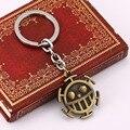 H & F Japonês Chaveiro Anime One Piece Lei Trafalgar Pingentes Chaveiro de Metal chaveiro Namorado presentes Trinket key holder para o carro