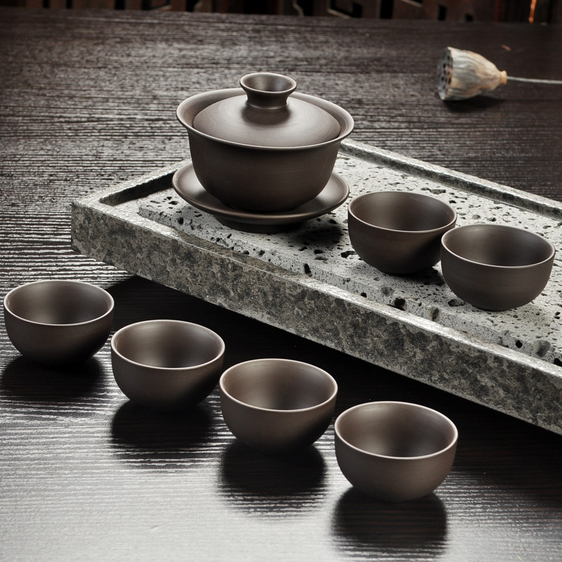 Yixing Purple Sand Gong Fu Tea Ceremony Set 4