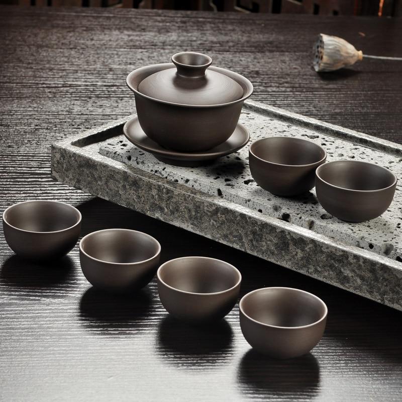 Yixing Purple Sand Gong Fu Tea Ceremony Set 4