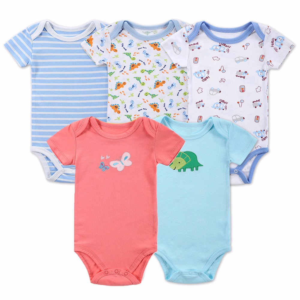 Aliexpress Buy 5 pcs Lot Baby Rompers Short Sleeves