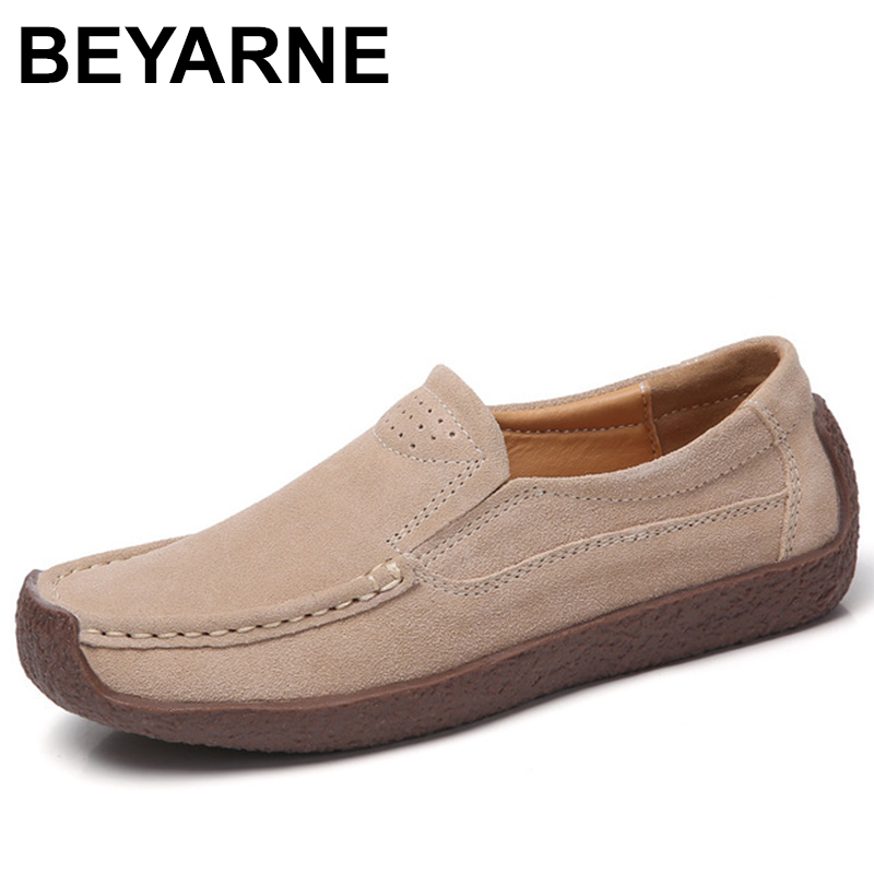 BEYARNE Women Boat Shoes Suede Leather Slip on Square Toe Ladies Casual Flats Tassel Knot Breathable Shoes For Women Summer New new suede leather women shoes loafers slip on sewing driving flats tassel woman breathable moccasins blue ladies boat flat shoes