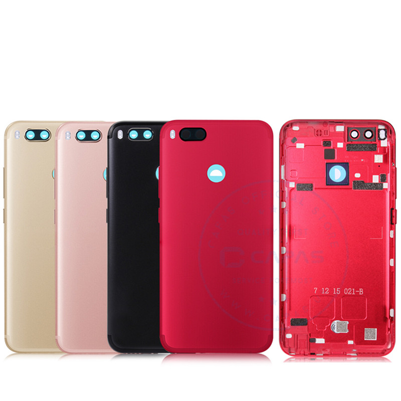 For Xiaomi Mi A1 Back Cover Housing Metal For Xiaomi A1 Rear Battery Cover + Camera Glass + Side Keys Replacement Spare Parts