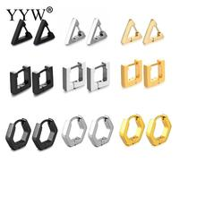 YYW Triangle Earrings For Women Men Silver Color 2019 Personality Stainless Steel Earring Special Design Jewelry