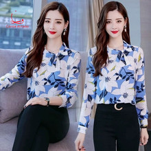 2019 fall collection large size autumn/winter fashion printed shirt tops