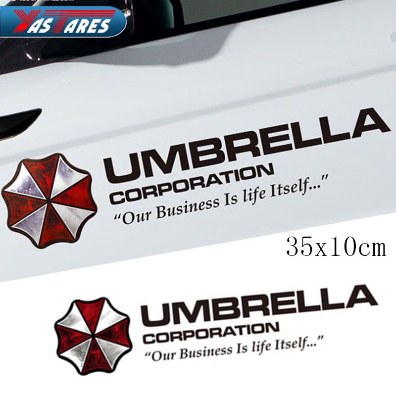 1pc Car styling Umbrella Corporation Car Sticker Sports Mind Eyelid Decal for Bmw Ford Focus Vw Polo Skoda Golf Audi Opel Toyota